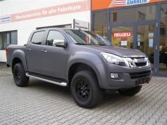 """D-MAX Premium mit """"Black Rhino"""" Fahrwerk und 265/70R17 in matt grau foliert"""