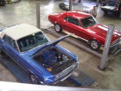 Ford Mustangs zum Service und Instandsetzung