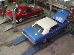 Mustang Modelle 1966 und 1967 in unserer Werkstatt